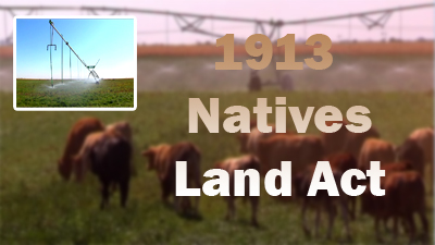 1913 native land act The legacies of the natives land act of 1913 3 limited 'released areas' (platzky and walker 1985:87) the land that petitioners say this native lands act has.