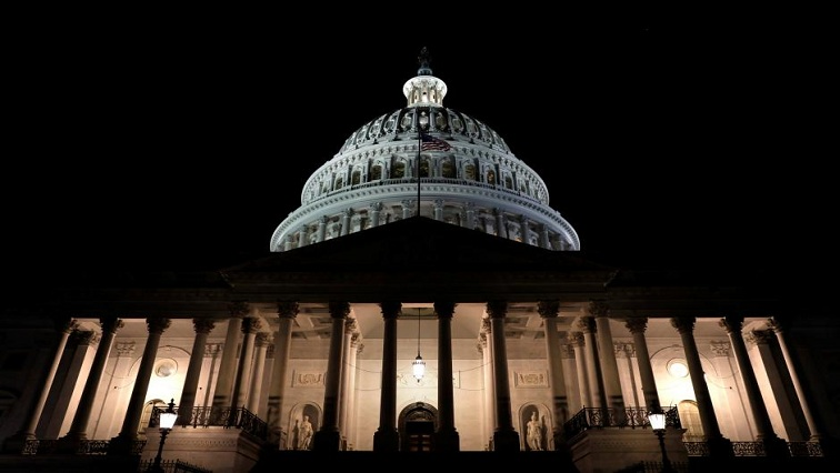 U.S. Capitol is seen shortly after beginning of the Government shutdown