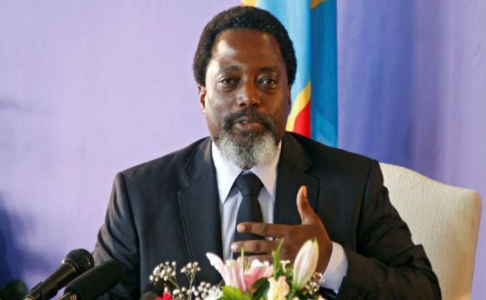 Joseph Kabila addressed a news conference at the State House in Kinshasa, Democratic Republic of Congo on Friday.