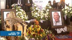 Lucas Mangope's funeral is being held in Motswedi village near Zeerust in the North West.