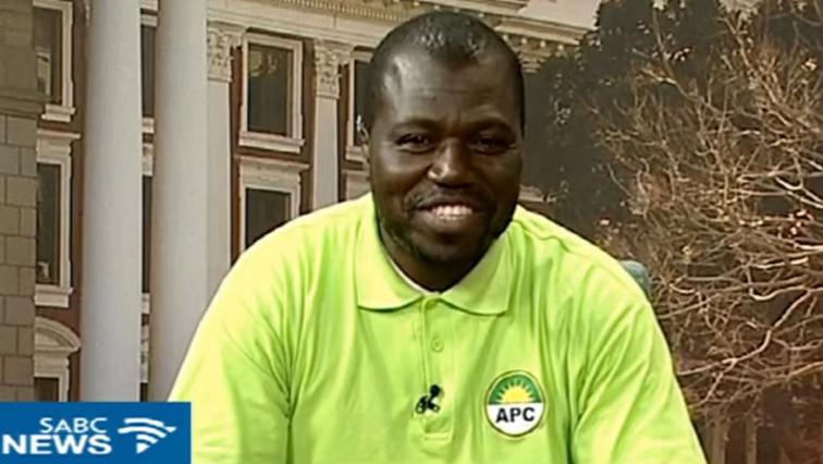 The APC's Themba Godi.