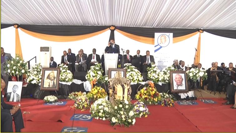 Lucas Mangope's funeral is underway in North West.