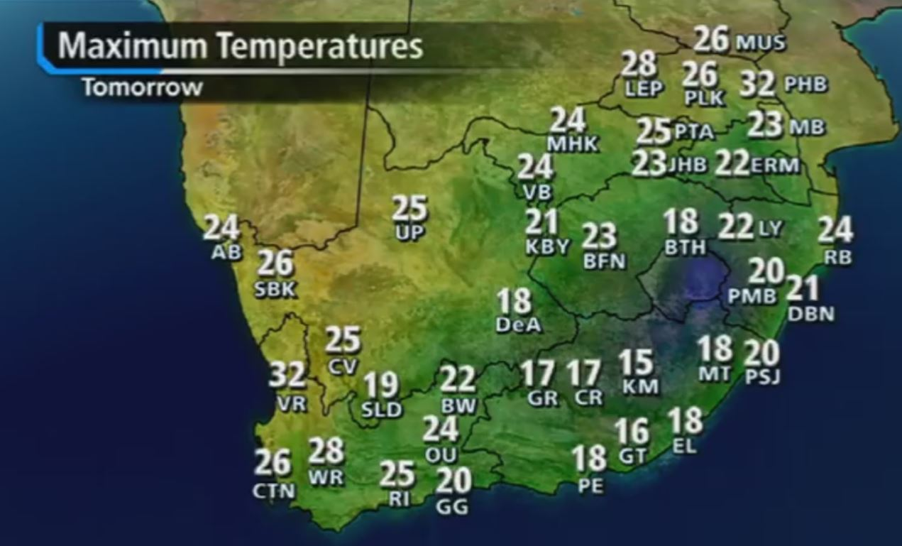 Weather for Cape Town, South Africa - Time and Date