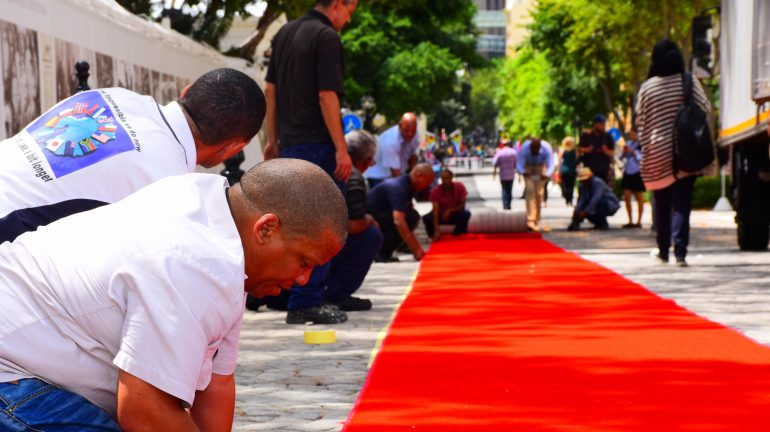 Red carpet at Parliament