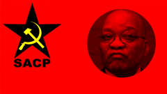 SACP logo and Jacob Zuma