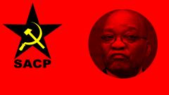 SACP logo and Jacob Zuma