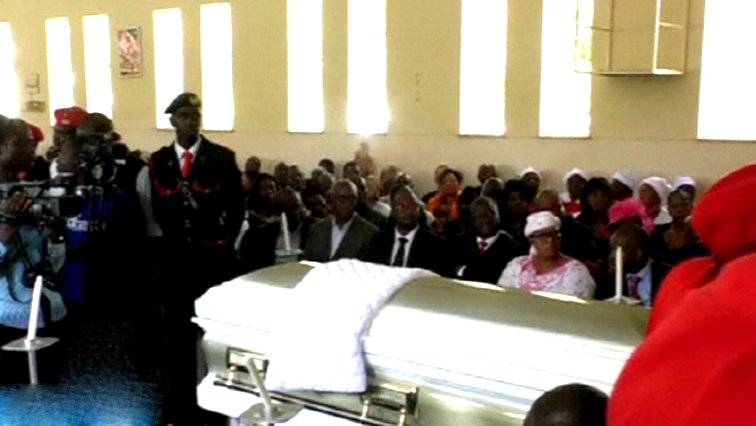 Coffin of Morgan Tsvangirai.
