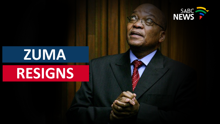 Jacob Zuma has resigned as State President