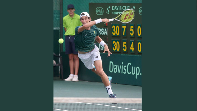 South Africa's Marcos Ondruska in action.