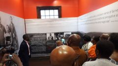 One of the rooms depicting Nelson Mandela life at the Nelson Mandela Museum.
