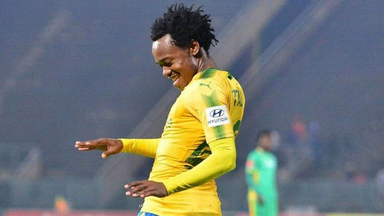 Sundowns player Percy Tau.