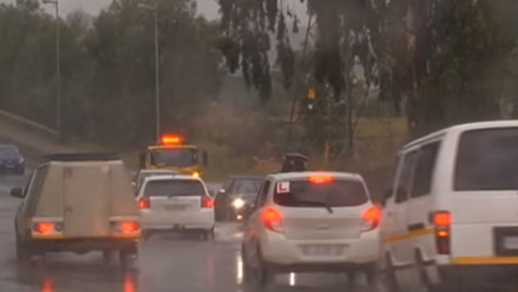 Cars in rainy weather