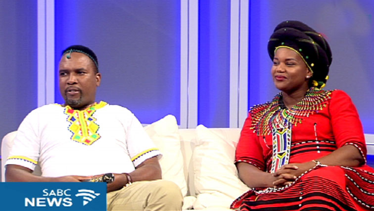 Inkosi Siphosezwe Mahlangu (L) and Fatima Rulashe