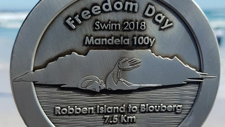 Freedom swim medal