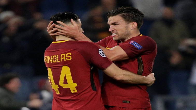 Konstantinos Manolas with Kevin Strootman