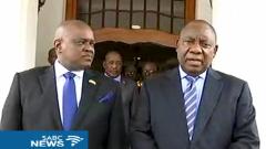 Botswana President Masisi and SA President Ramaphosa.