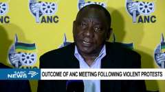 President Cyril Ramaphosa addressed the media on the crisis and the residents' demand for the immediate removal of Premier Supra Mahumapelo.