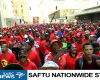 Workers heed a call for protest action against minimum wage