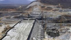 A general view of Ethiopia's Grand Renaissance Dam.