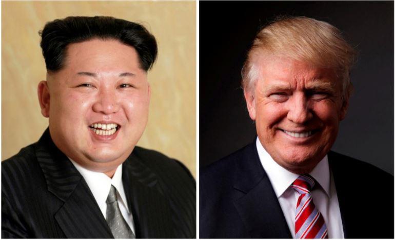 Kim Jong Un & Donald Trump (R)