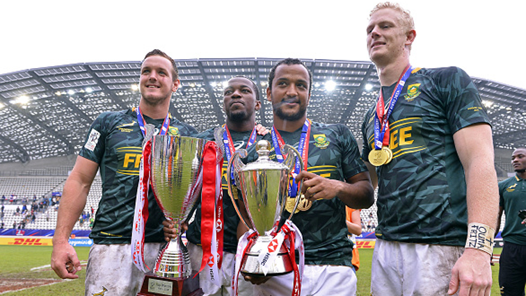 Blitzbokke with trophy