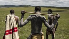 Boys during the initiation season