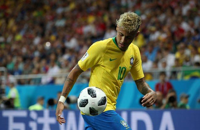 Brazil's Neymar in action.