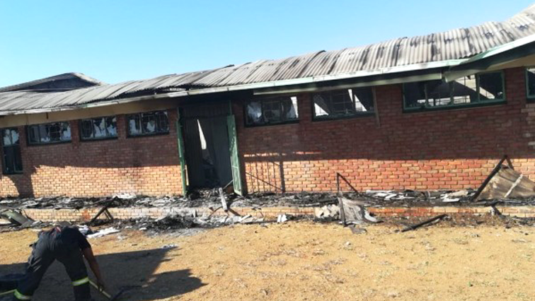 Torched school