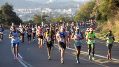 Runners participating in Comrades