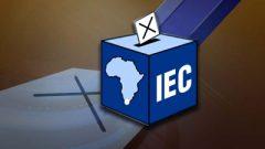 IEC Ballot box and cross