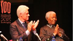 Former USA President Bill Clinton delivered the Inaugural Nelson Mandela lecture on the July 19, 2003.