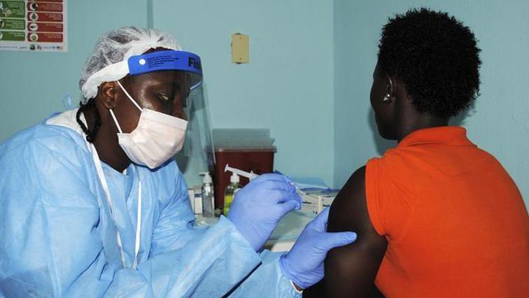 A person getting ebola vaccine.