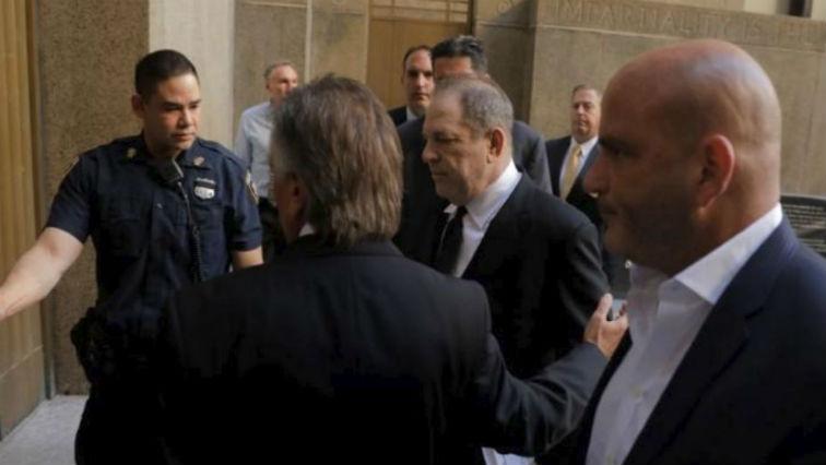 Film producer Harvey Weinstein arrives at Manhattan Criminal Court in New York City, U.S.