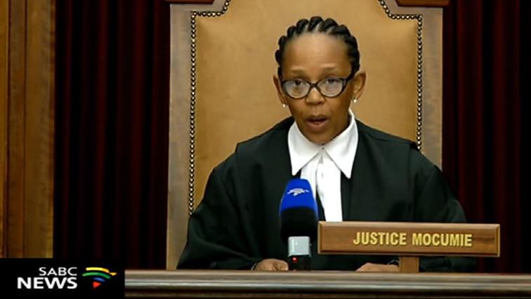 SCA judge Connie Mocumie