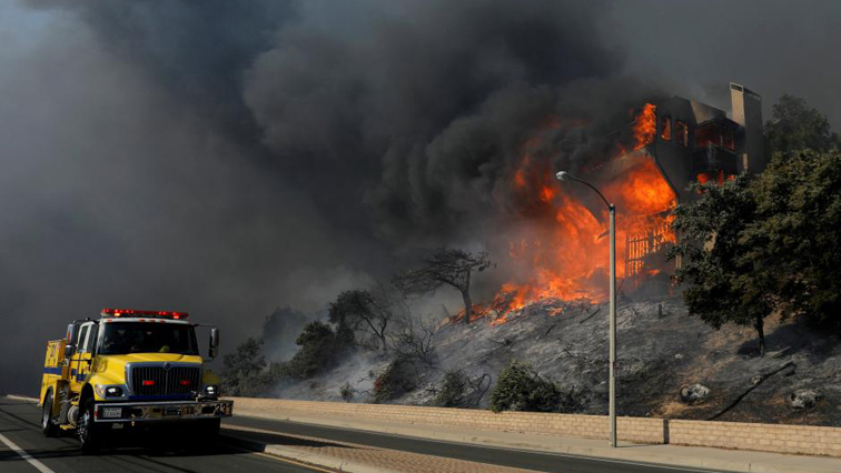 A wildfire raged through an area of northern California.