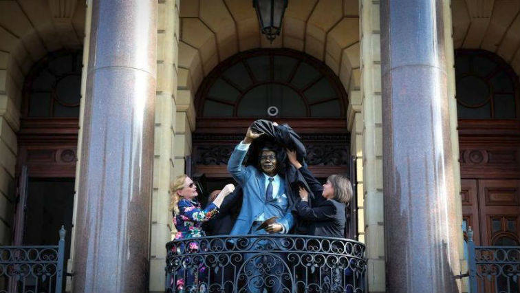 The statue is a reminder of the day Madiba was released from prison.
