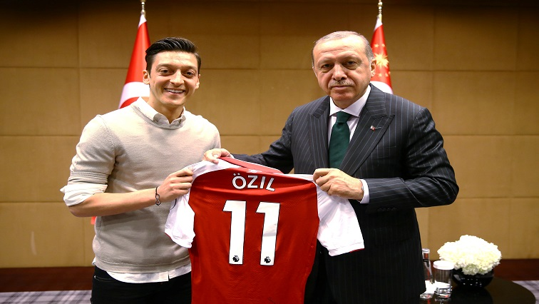 Turkish President Erdogan meets with Arsenal's soccer player Ozil in London
