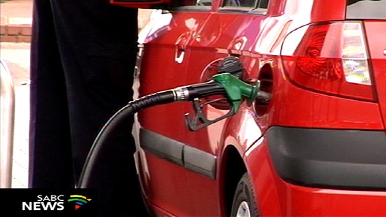 Car at a petrol tank