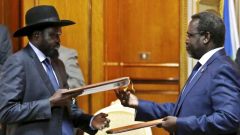 Salva Kiir and Riek Machar