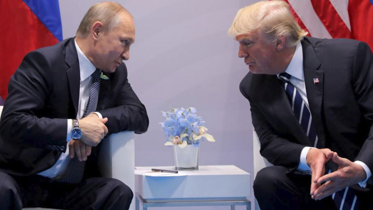 Vladimir Putin met Donald Trump during their bilateral meeting at the G20 summit in Hamburg, Germany last year.