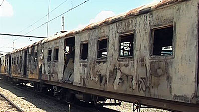 Torched train