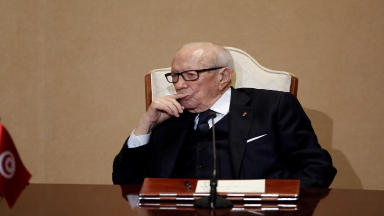 Beji Caid Essebsi seated