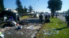Blown up cash van