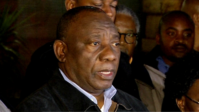 President Ramaphosa met marchers at the Union Buildings in Pretoria