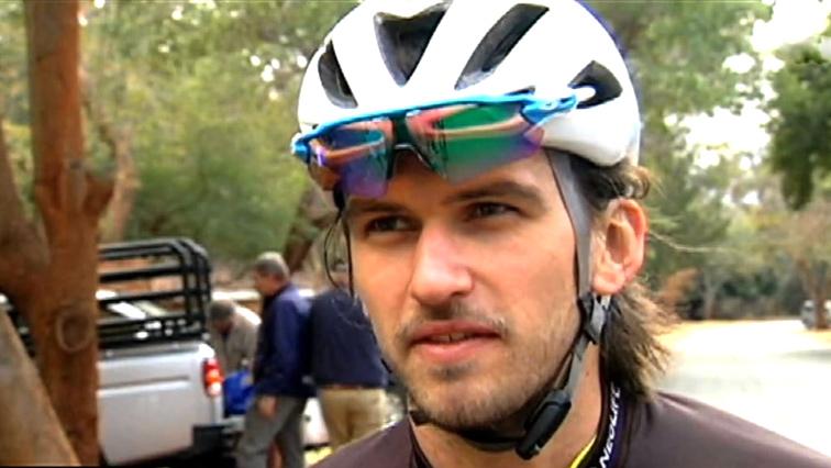 Cyclist Matthew Beers