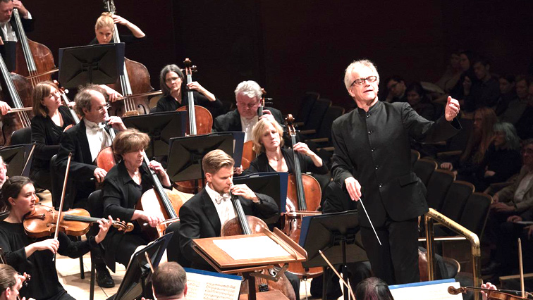 An orchestral performance