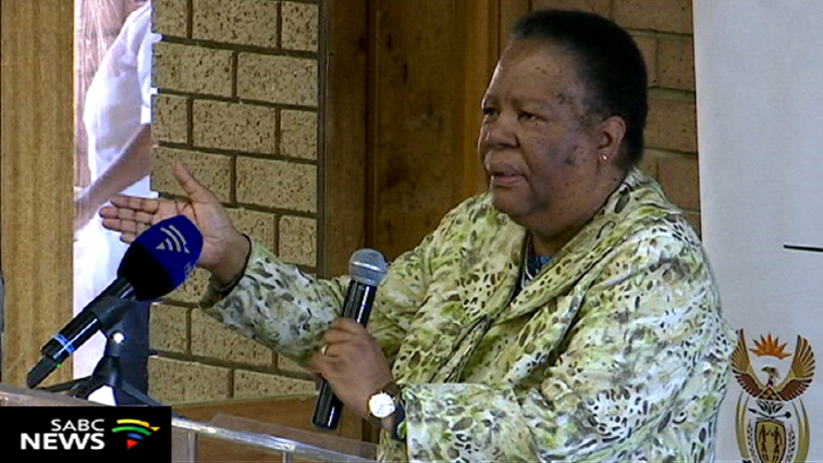 Naledi Pandor speaking