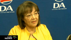 Patricia de Lille briefing the media