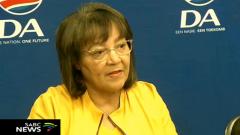 Patricia de Lille briefing the media