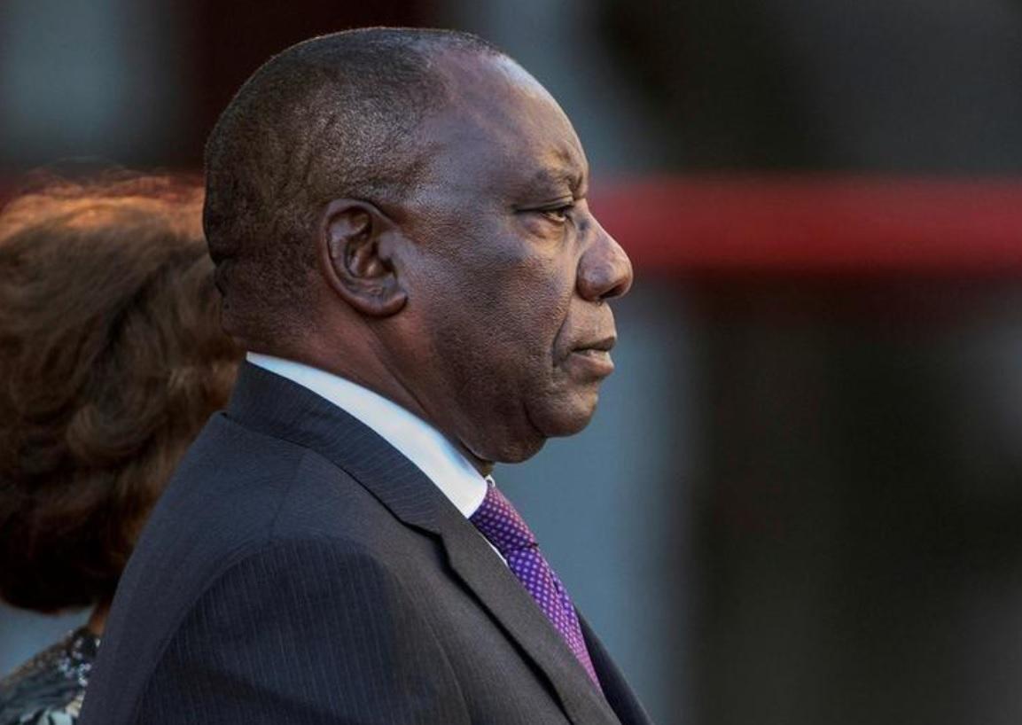 President Cyril Ramaphosa looking pensive